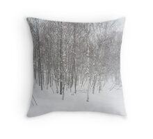winter snowstorm Throw Pillow