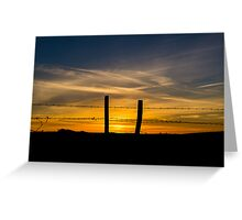 End of the Day Greeting Card