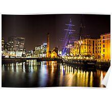 Canning Dock illuminated boat Poster