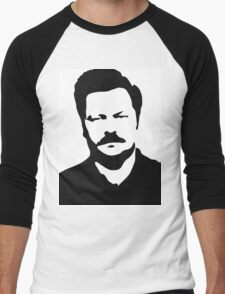 Ron Swanson - Parks and Recreation Men's Baseball ¾ T-Shirt