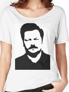 Ron Swanson - Parks and Recreation Women's Relaxed Fit T-Shirt