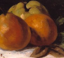 Apple, Pear and Orange by Bridgeman Art Library