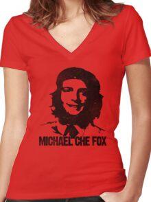 Michael Che Fox Women's Fitted V-Neck T-Shirt