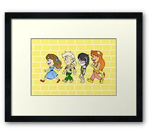 Follow the Yellow Brick Road! Framed Print