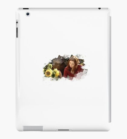 amy pond and sunflowers iPad Case/Skin