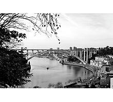 Ponte D'arrábida e rio Douro Photographic Print