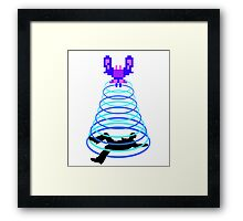 Galaga Abduction Framed Print