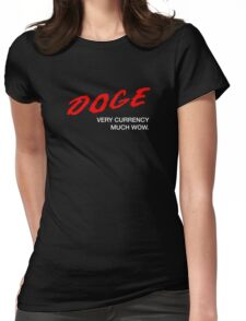DOGE - Very Currency, Much Wow Womens Fitted T-Shirt