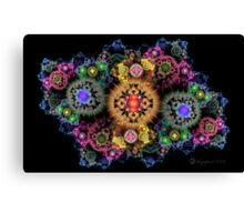 Cosmic Fractal Flowers Canvas Print