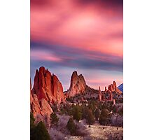 Garden of the Gods Sunset Sky Portrait Photographic Print