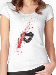 Grunge Lipstick Women's Fitted Scoop T-Shirt