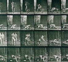 Two Men Wrestling by Bridgeman Art Library