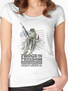 Frogs for Freedom Triple-Hopped IPA Women's Fitted Scoop T-Shirt