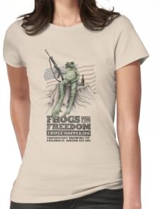 Frogs for Freedom Triple-Hopped IPA Womens Fitted T-Shirt
