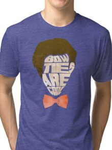 Bow Ties Are Cool - Blue Tri-blend T-Shirt