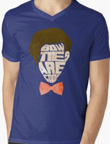 Bow Ties Are Cool - Blue Mens V-Neck T-Shirt