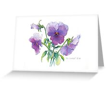 Lavender Pansy Greeting Card