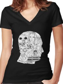 Ninth Hour Women's Fitted V-Neck T-Shirt