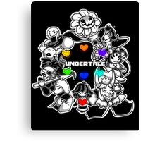 Everyone from Undertale (Flowey, Frisk, Sans, Papyrus, Toriel etc.) Canvas Print
