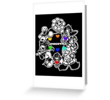 Everyone from Undertale (Flowey, Frisk, Sans, Papyrus, Toriel etc.) Greeting Card