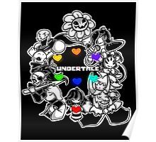 Everyone from Undertale (Flowey, Frisk, Sans, Papyrus, Toriel etc.) Poster