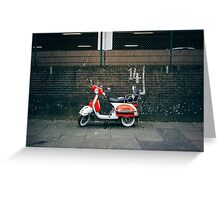 Red and white scooter Greeting Card