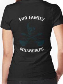 Foo Family Milwaukee Women's Fitted V-Neck T-Shirt