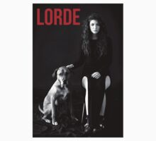 Lorde B&W Red Lettering by ArabellaOhh