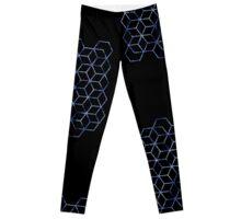 hexagon gone blue Leggings