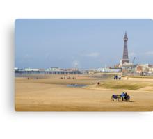 Blackpool donkey rides Canvas Print