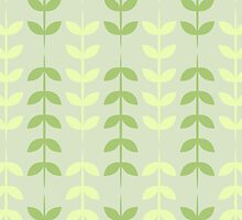 Ferns in Green and Yellow by fairandbright