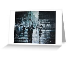 CROSSING THE SNOWY STREET Greeting Card
