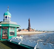 Blackpool North Pier and Tower by photoeverywhere