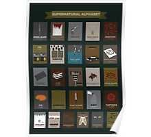 Supernatural Alphabet Poster