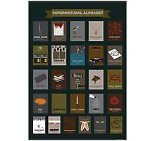 Supernatural Alphabet Photographic Print