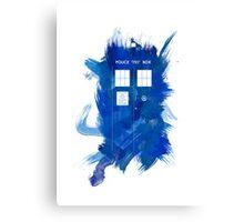 Watercolor TARDIS Canvas Print