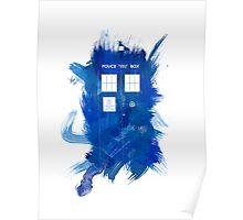 Watercolor TARDIS Poster