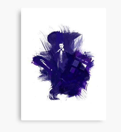 Watercolor Eleventh Doctor Canvas Print