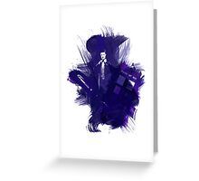 Watercolor Eleventh Doctor Greeting Card