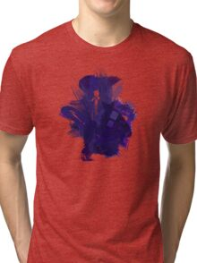 Watercolor Eleventh Doctor Tri-blend T-Shirt