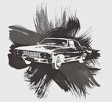 Watercolor Impala by fairandbright