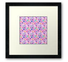 mark my stitches (pink version) Framed Print