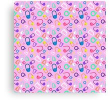 mark my stitches (pink version) Canvas Print