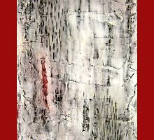 """""""Winter"""" Abstract, mixed media by Annie Coe"""