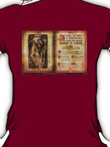 Madame Leota's Spell Book by Topher Adam T-Shirt