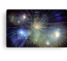 Colorful 2016 Fireworks Calendar Canvas Print