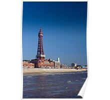 Blackpool Tower and waterfront Poster