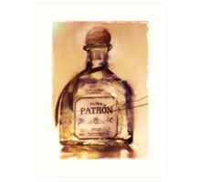 Patrón Silver Art Print