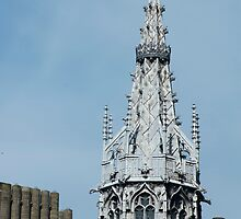 Gothic spire at Cardiff Castle by photoeverywhere