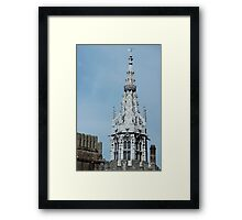 Gothic spire at Cardiff Castle Framed Print